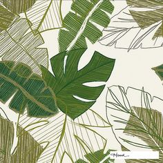 Designer fabric and a design fit for your drapery from the 'Jungle' design style range by Hoad Floral Curtains, Drapery Fabric, Hawaiian Print Fabric, Batik Art, Tropical Leaves, Art Inspo, Fabric Design, Plant Leaves, Fabrics