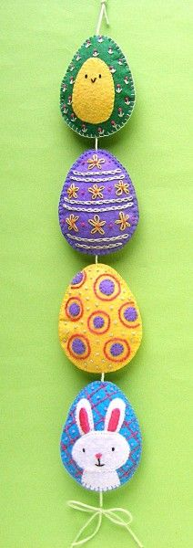 Happy Eggs Easter Mobile - pattern from Shiny Happy World