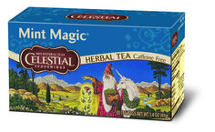 A mint tea with the refreshing lift of spearmint and the delightful sweetness of peppermint. #HotTeaMonth #CelestialHerbalTea http://www.celestialseasonings.com/products/herbal-teas/mint-magic