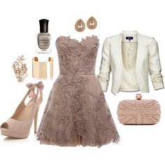 A touch of romance. Great look for dinner date or dinner with the girls. The dress is so feminine and flattering.