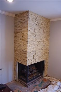 After. Stacked stone sandstone