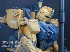 RX-79G[D] Ground Gundam Type D Planet System, Astray Red Frame, Ground Type, Gundam Exia, Strike Gundam, Facebook Features, Gundam Model, Models, Dioramas