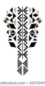 Ethnic neck embroidery for fashion and other uses in vector - embroidery Embroidery Neck Designs, Embroidery Motifs, Embroidery Fashion, Embroidery Dress, Ribbon Embroidery, Motifs Blackwork, Native American Patterns, Motifs Perler, Apple Body