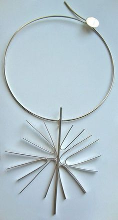 Necklace |  Betty Cooke, pre 1970.   Sterling silver.......Connie Fox: Radial balance.