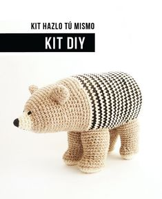 DIY Kit Crochet Bear / Organic Cotton от BruDiy на Etsy