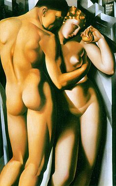 one of my Favorite Paintings ever. Adam and Eve by Tamara de Lempicka