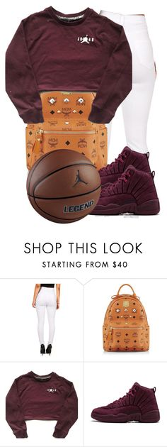 """""""Burgundy and White Contest"""" by misskera ❤ liked on Polyvore featuring MCM and TAXI"""