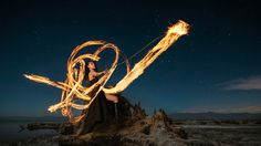 Love for fire  - fire painting. Photo by Von Wong