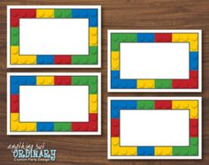 DIY Building Blocks Editable Table Tents, INSTANT DOWNLOAD, digital printable file