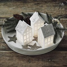 Paper Townhouses - Set Of 2 | The White Company