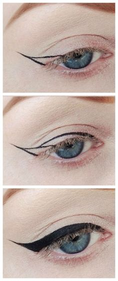 Winged Eyeliner tutorial!! #howto More