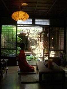 京都の町家ゲストハウス 和楽庵の庭