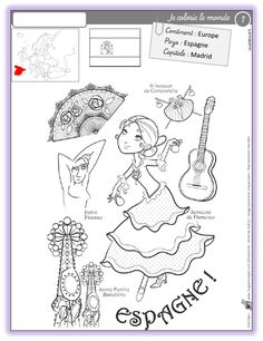 coloring around the world - Around The World Theme, Holidays Around The World, Around The Worlds, Europa Tour, Thinking Day, Coloring Book Pages, Cute Images, Paper Cards, Anniversary Cards