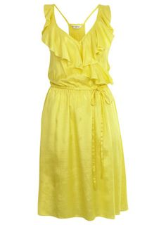 Love this yellow dress! Frilly Dresses, Cute Dresses, Spring Dresses, Spring Outfits, Mellow Yellow, Yellow Sun, Lemon Yellow, Bright Yellow, Yellow Dress Summer