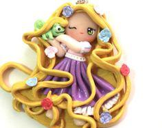 Rapunzel & Pascal Tangled Chibi Polymer Clay Charm
