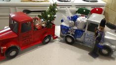 """Dollar General Thanksgiving Clearance """"Red Truck"""" Make Over to Christmas Christmas Truck, Plaid Christmas, Christmas Holidays, Christmas Crafts, Dollar Store Crafts, Dollar Stores, Truck Crafts, Farm Trucks, Dollar General"""