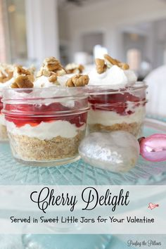 Cherry Delight in Sweet Little Jars for Valentine's Day