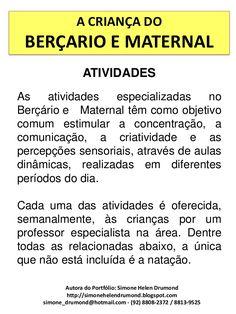 A criança do berçario e maternal 50 atividades
