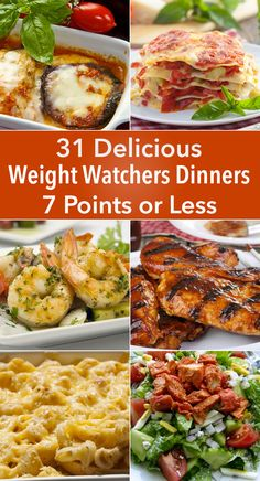 Recipes and Cooking Tips: 31 Delicious Weight Watchers Dinners for 7 Points or Less