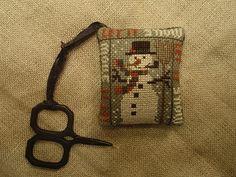 Heartstring Samplery design cross stitch snowman
