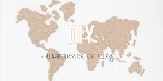DIY | La mappemonde en liège ! Deco Rose, Projects To Try, Arts And Crafts, Diagram, Crafty, Diys, Cool Stuff, Fun, Home Decor