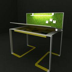 Fun Table ▶ Work Table Design #serimkanmaz #fun #table #worktable #mydesign #designer #yellowmetal #grass #energeticdesign #furnituredesigner #dynamicdesign #style #conceptdesign #form #style #studydesk #interior #decoration #scrivania #schreibtisch #disegno