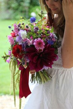 Late summer gathered bouquet by Bramble & Berry