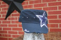 Dallas Cowboys Bling Distressed Cadet Style Hat by iheartmoes, $35.00