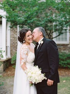 Elegant Gold and Blush Southern Wedding Father Daughter Pictures, Wedding Images, Special Events, Style Me, Dream Wedding, Wedding Inspiration, Dresses With Sleeves, Bride, Elegant