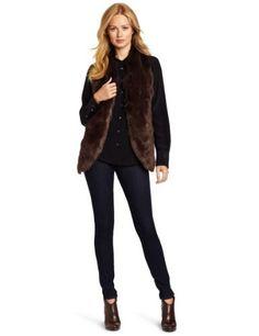 Jones New York Women's Fur Vest Jones New York. $82.65. Faux fur. Machine Wash. Made in China. 62% Acrylic/25% Merino Wool/13% Nylon. Sweater back