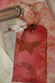 gorgeous butterfly tag