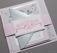Pink Wedding Invitations Pink and Gray Blush and by WhimsyBDesigns, $5.25