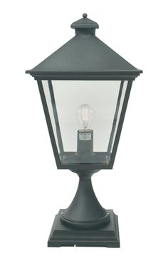 Norlys BLACK Turin 1 light outdoor pedestal lantern in black; traditional die-cast aluminium, impact resistant and 15 year structural guarantee. Exterior Lighting, Outdoor Lighting, Classic Lanterns, Gate Post, Traditional Exterior, Traditional Lighting, Hanging Lanterns, Turin, Light Fittings