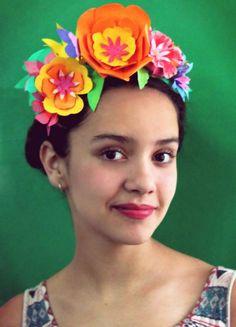 Paper flower crown for Cinco de Mayo