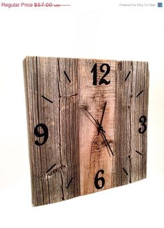 ON SALE Rustic Natural Barn Wood Wall Clock by TheRusticPalette