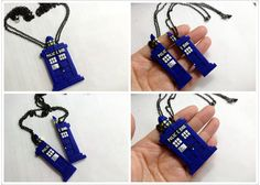 GUO GUO'S - The Original Dr Who Tardis Heart Necklace / BFF Tardis Heart Necklace Set / Friendship Necklace / Made to order on Etsy, $24.00