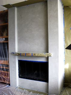 Check out this beautiful Venetian Plaster Fireplace. At Parks ...