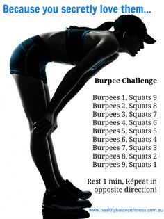 love Burpee Challenge workout