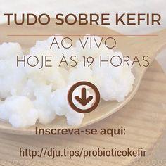 HOJE TEM!  Tem webinário às 19 horas do horário de Brasília.  E fiz outro post porque algumas pessoas estão com dificuldades para se inscrever. Se você é uma delas digite esse endereço no seu navegador e INSCREVA-SE: http://dju.tips/probioticokefir  Façam suas perguntas aqui vou escolher e responder no webinário de hoje.  Vou escolher as perguntas feitas até 2 horas antes do webinário.  #kefir #paleo #Probiótico
