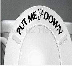 Barato 2014NEW venda 1 PCS ME colocar no chão do banheiro Toilet adesivos criativo alfabeto inglês adesivos + grátis frete, Compro Qualidade Papéis de parede diretamente de fornecedores da China:             Oi queridos amigos, Bem-vindo à minha loja, eu espero que eu possa trazer felicidade para você