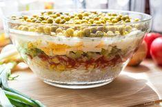 Sałatka warstwowa z tuńczykiem - bAniaLuki Ketchup, Cereal, Oatmeal, Breakfast, Food, The Oatmeal, Morning Coffee, Rolled Oats, Essen