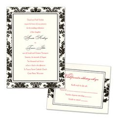 Damask Wedding Invites