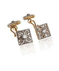 Vintage Edwardian Gold and Diamond Cufflinks,  Kojis collection online at Liberty.co.uk