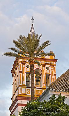 Church tower in Sevilla, Spain