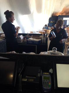 Newbie Georgina and mamma Kazza enjoying a Saturday lunch time
