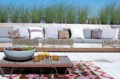 thumbs athena calderone terrace outdoor design dumbo nyc wood succulents flowers rawlins calderone design eye swoon 39 Ode to the Terrace Outdoor Furniture Cushions, Outdoor Retreat, Outdoor Furniture Sets, Patio Seating, Outdoor Rooms, Patio Cushions, Patio Cushion Storage, Outdoor Decor, Outdoor Wicker Furniture