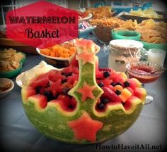 watermelon basket carving: