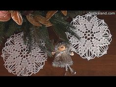 Crochet doily Snowflake Tutorial Part 1 Сrochet Сhristmas ornaments free patterns - YouTube