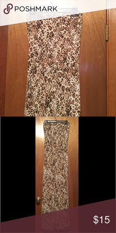 Ladies leopard print romper Tube top, pants ladies romper Pants Jumpsuits & Rompers