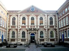 Bluecoat Chambers in Liverpool,1717, in a version of the original Queen Anne style
